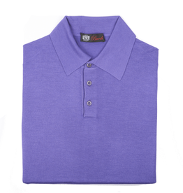 Cashmere / Silk Polo Sweater, Purple