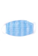 Silk Face Mask, Light blue dot