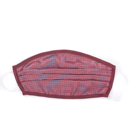 Silk Face Mask, Red check print