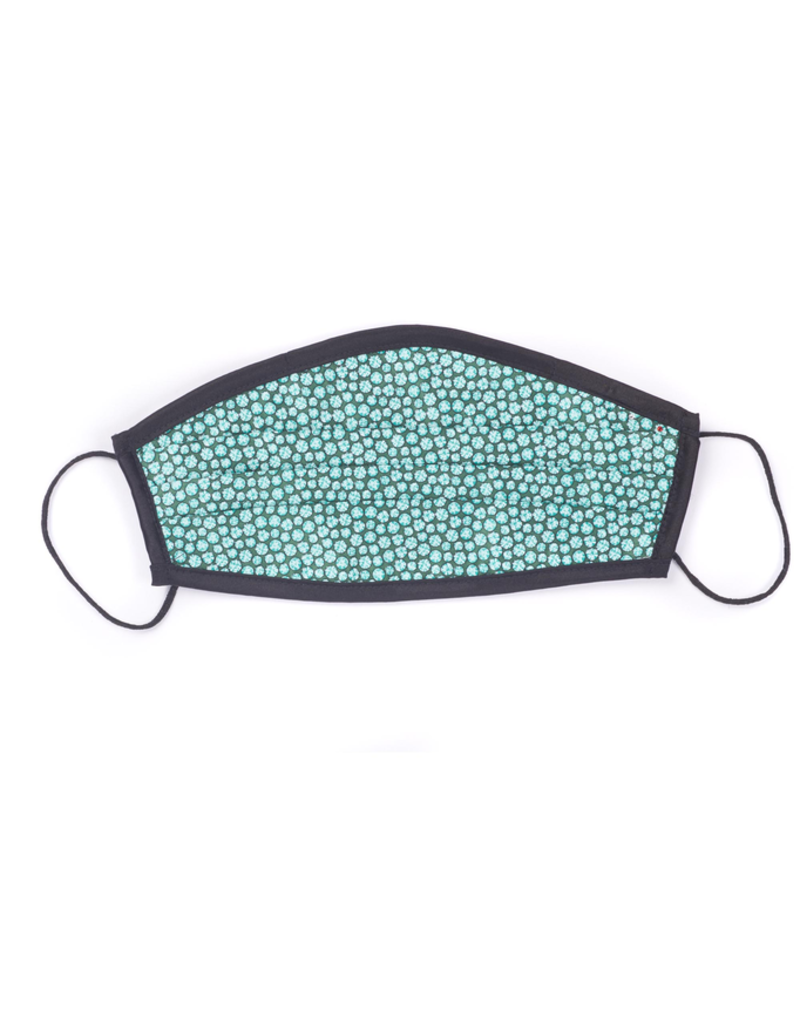 Silk Face Mask, Green dot