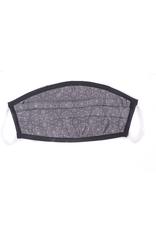 Silk Face Mask, Black & Silver mosaic print