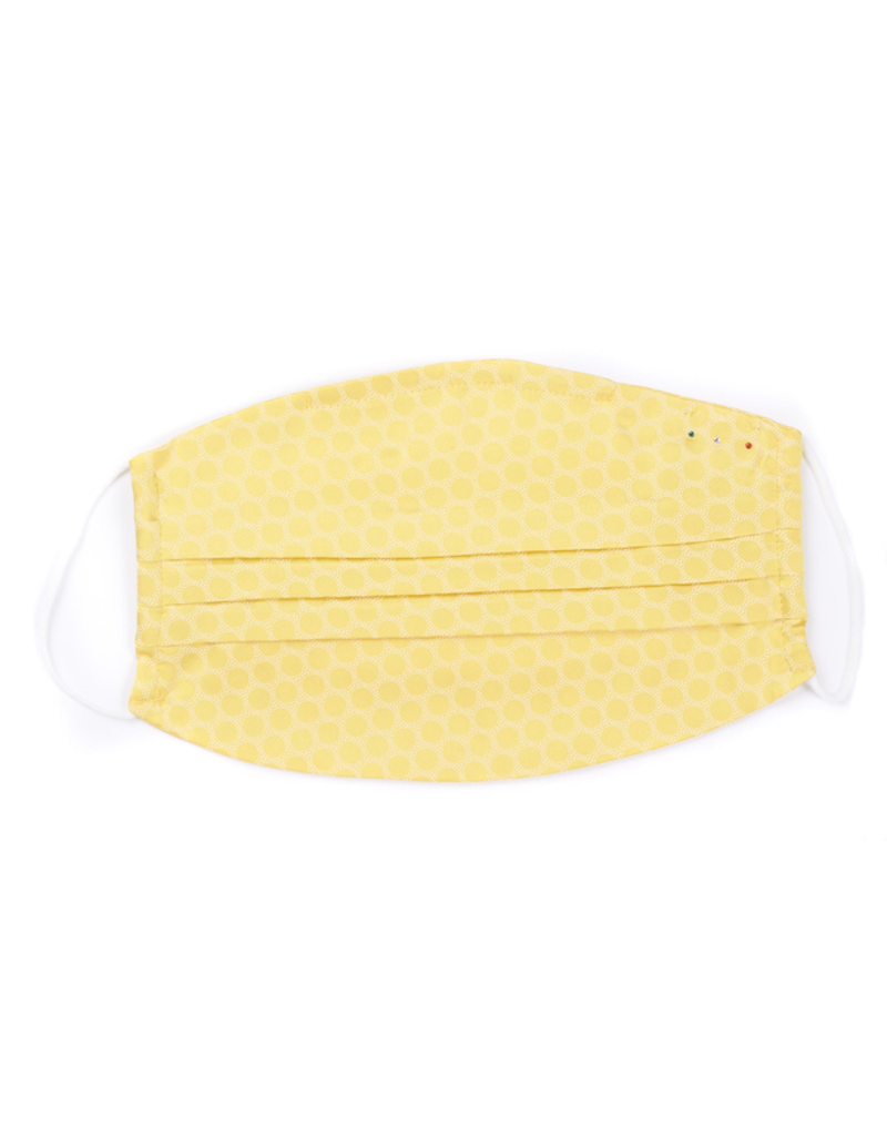 Silk Face Mask, Yellow Dot