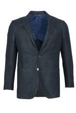Inclusivo Unstructured Honeycomb Tweed Jacket - Emerald & Blue