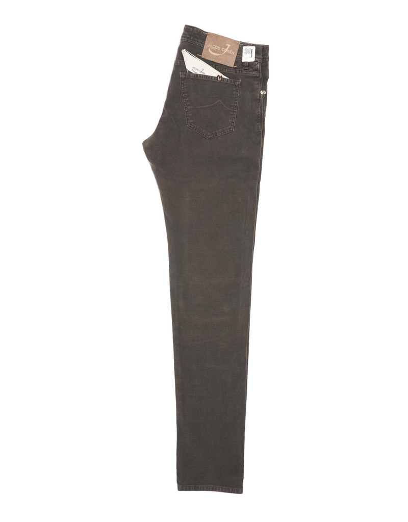 Jacob Cohen Velour Five-pocket Pants, Mocha