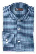 Cashmere feel Flannel Gingham Check Shirt, Handmade