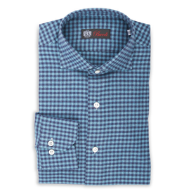 Cashmere feel Flannel Gingham Check Shirt, Handmade