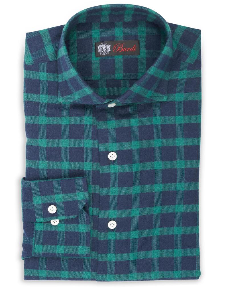 Cashmere feel Flannel Shirt, Handmade