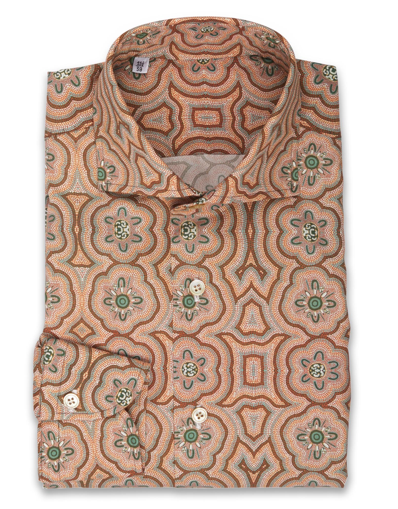 Handmade Floral Mosaic Print Shirt