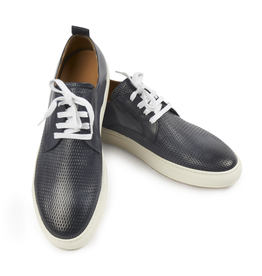 Textured and Smooth Leather Sneakers