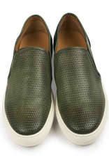Textured Leather Slip-on Sneakers