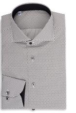 Printed Poplin, Black and White Micro Dot