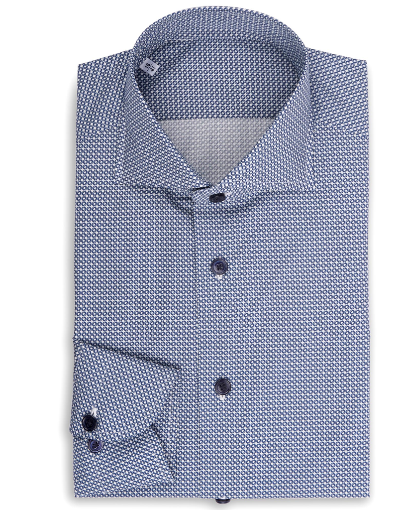 Geometric diamonds, Printed Poplin Shirt