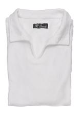 Long sleeve terrycloth polo