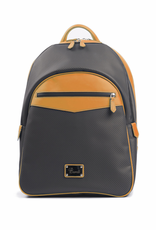 Carbon Fiber and Leather Backpack, Tan