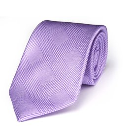 Purple Plaid Print Tie