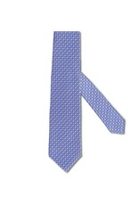 Blue & Gray Diamond Satin Tie