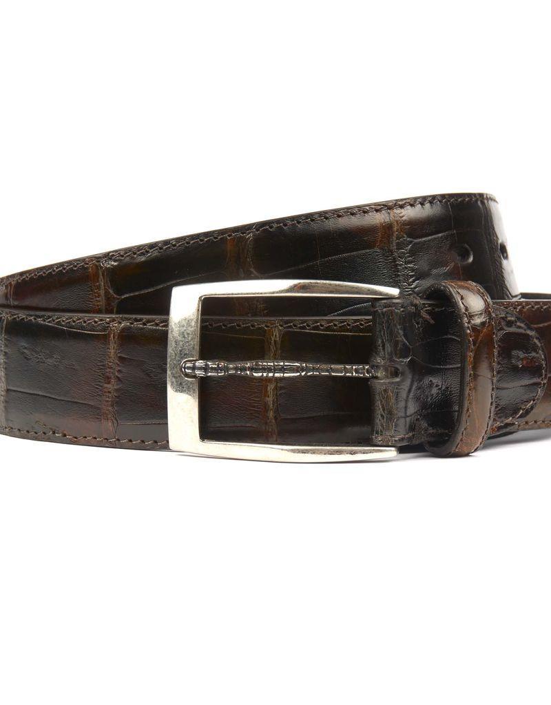 Brown Crocodile belt