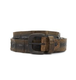 Hornback Crocodile belt- Taupe