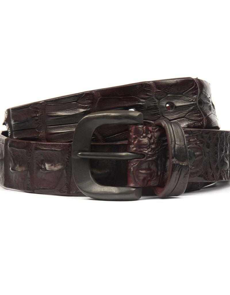 Hornback Crocodile belt- Wine