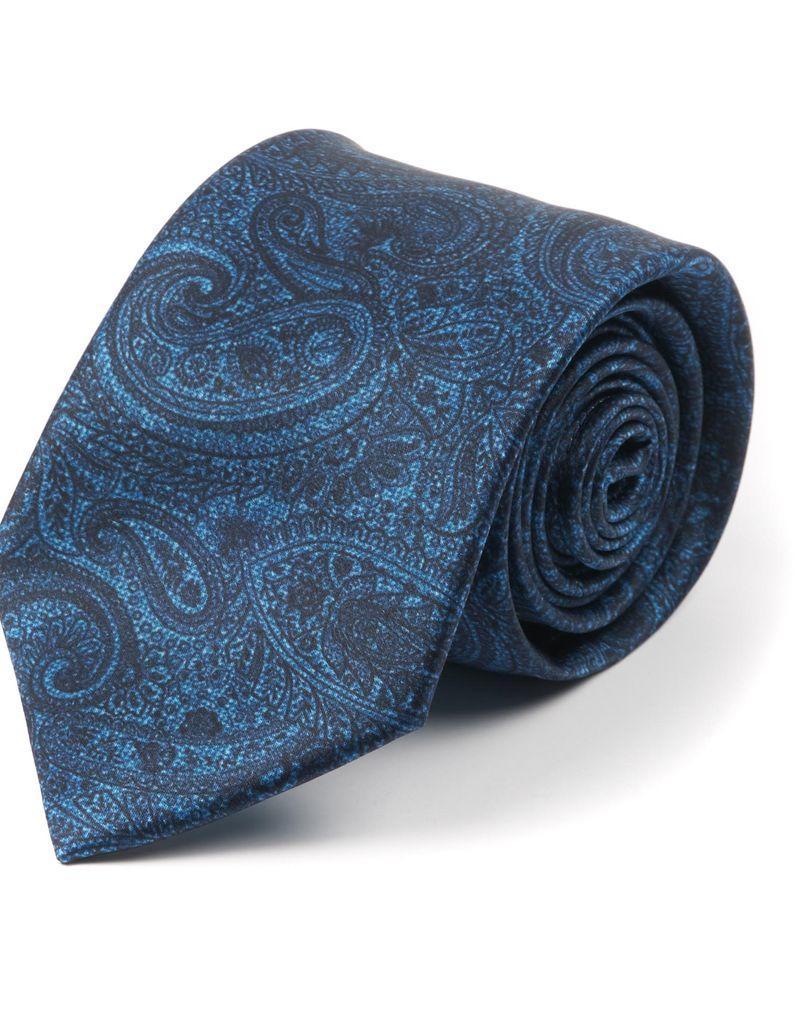 Printed Paisley Tie