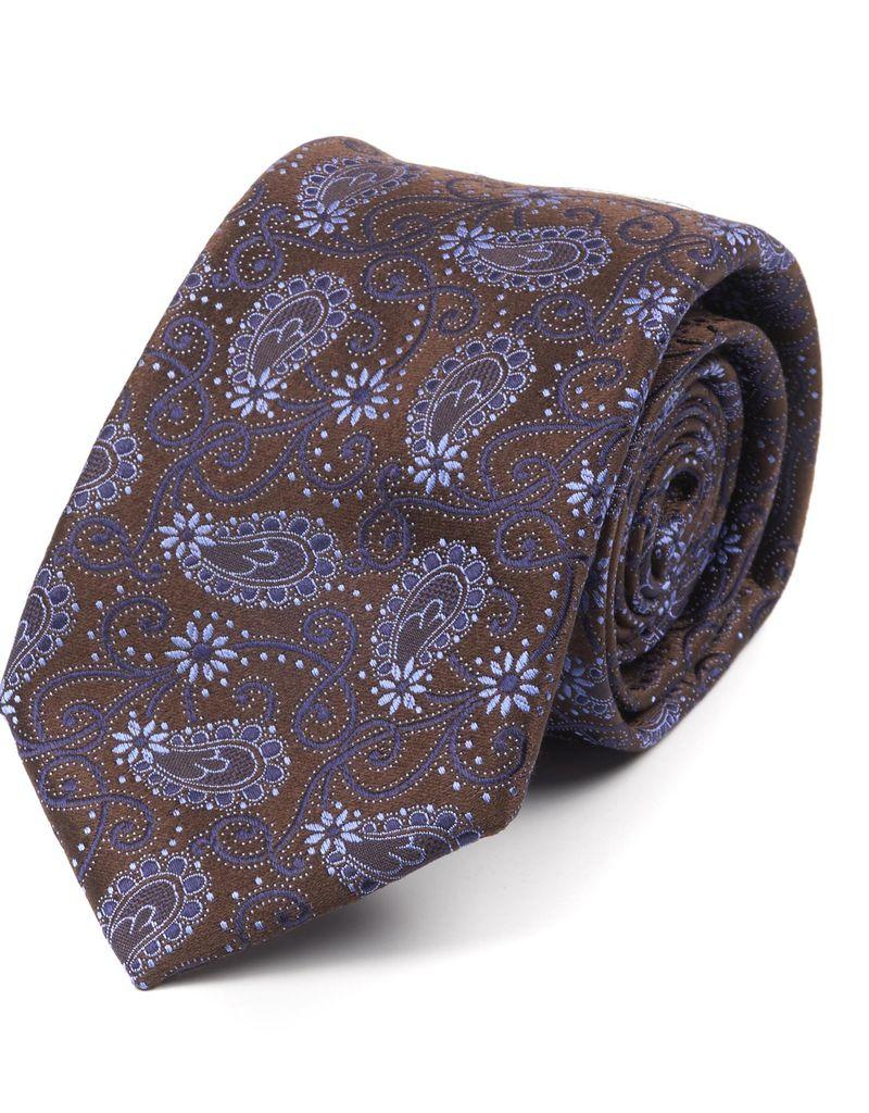 Silk Brocade Paisley Tie