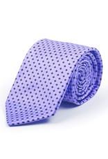 Pure Silk Tie, Printed Satin with diamond pattern, Purple, Black, Gray