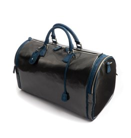 Carbon Fiber Weekender bag, Blue Trim