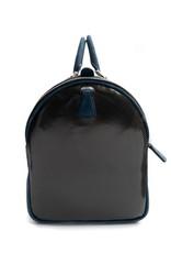Carbon Fiber Weekender bag, Blue Trim