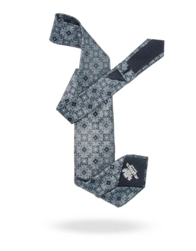 100% Silk Tie with Hand-set Swarovski Crystals