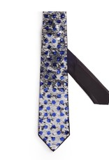 Polka dot Blue and Silver Sequin Tie
