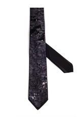 Formal Tie with Free Pattern Sequin, Black/Gray