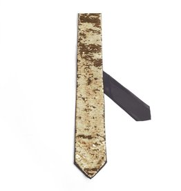 Formal Tie with Free Pattern Sequin, Gold