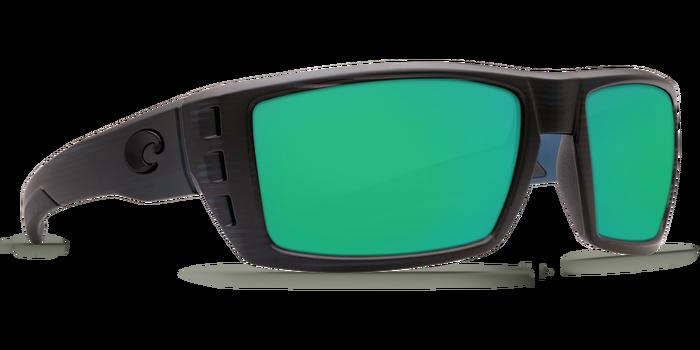 Costa De Mar Rafael - Matte Black Teak - Green Mirror 580G