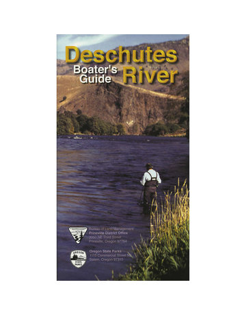 Deschutes River Boaters Guide