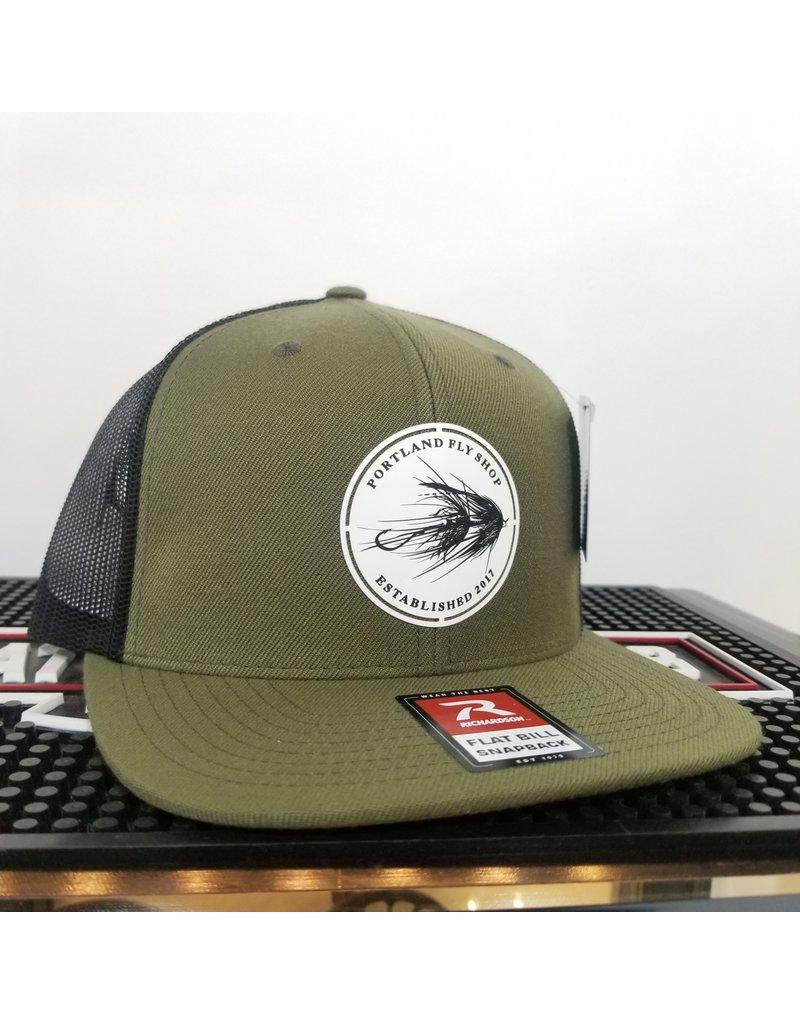 Portland Fly Shop Trucker Flat Bill Snapback - Intruder Logo