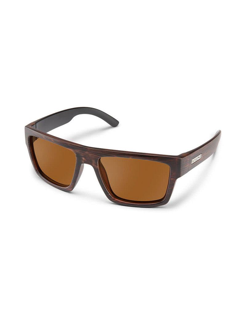 Suncloud Flatline - Burnished Brown W/ Plr Brown Lense