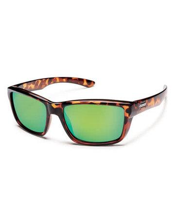 Suncloud Mayor - Tortoise/PLR Green Mirror