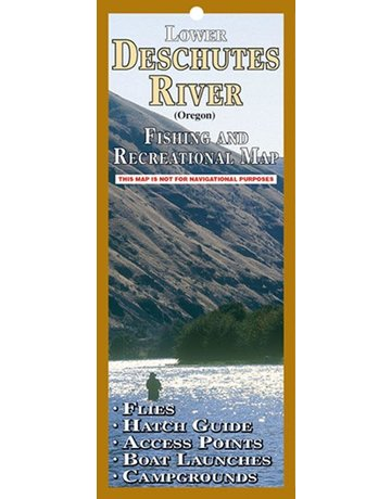 Lower Deschutes River Fishing and Recreational Map