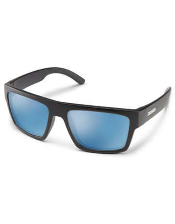 Suncloud Flatline - Matte Black/ PLR Blue Mirror