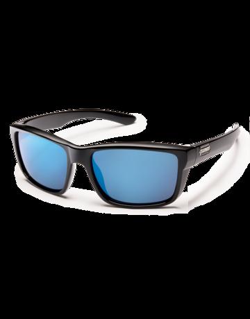 Suncloud Mayor - Black w/PLR Blue mirror lense