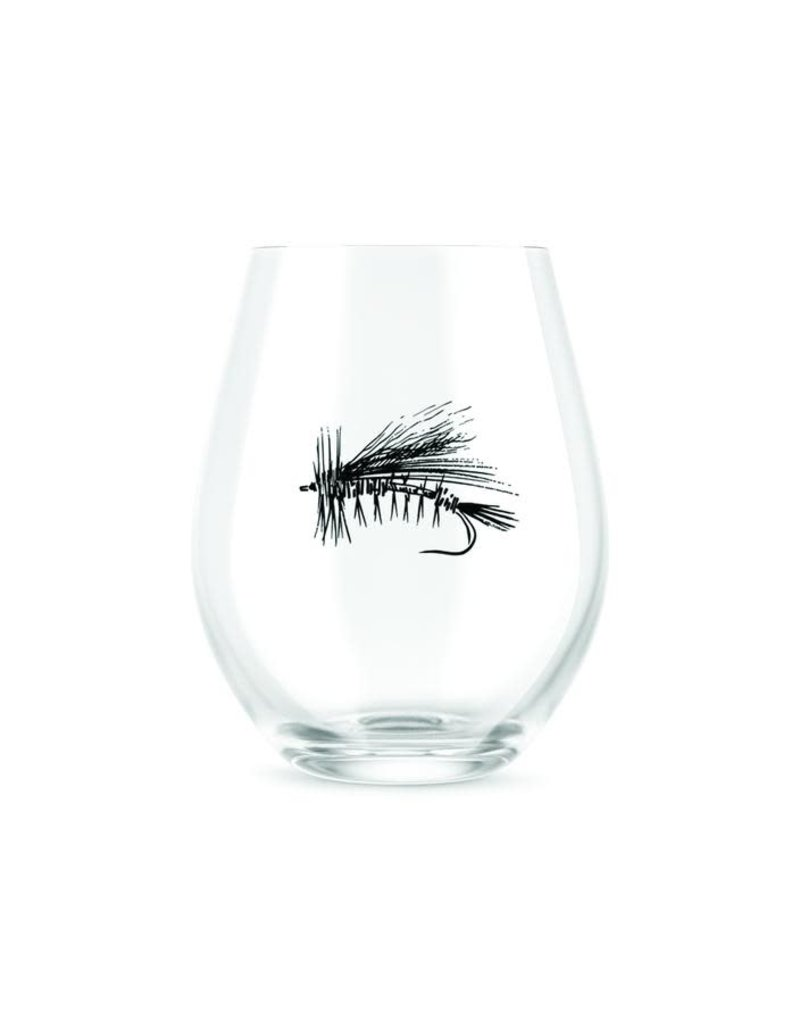 Rep-Your-Water Dry Fly Wine Glass