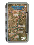 Montana Fly Company MFC Waterproof Fly Box - Lower Deschutes River Map - Large