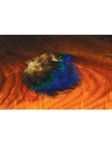 Hareline Dubbin Blue Peacock Feathers