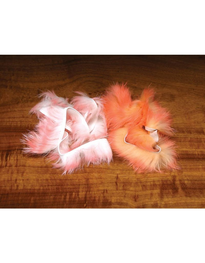 Hareline Dubbin Crosscut Rabbit Flesh Strips - Two Tone