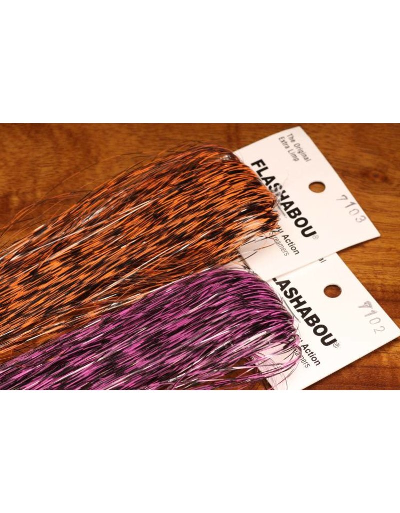 Hareline Dubbin Grizzly Barred Flashabou