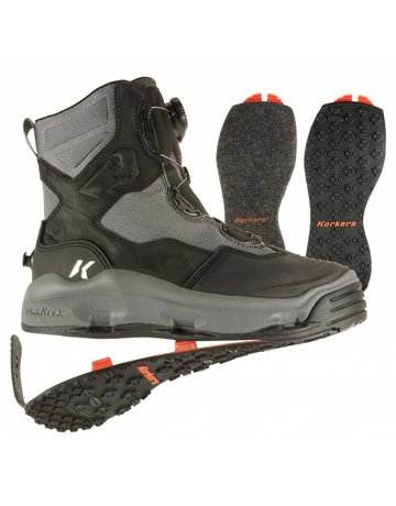 Korkers DarkHorse Boot - Kling-On / Felt Sole