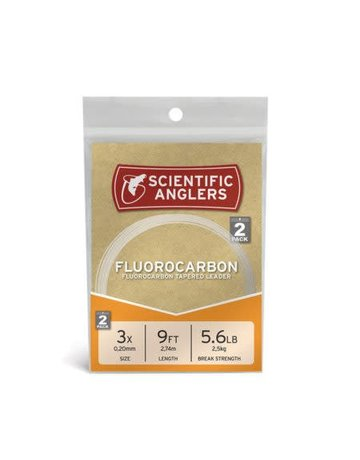 Scientific Anglers Scientific Anglers Fluorocarbon Tapered Leaders - 2 Pack
