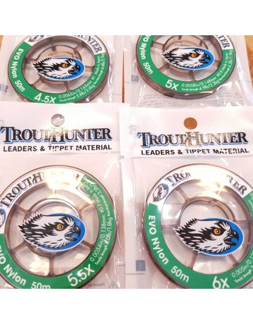 Trout Hunter Trout Hunter EVO Nylon Tippet - 50M