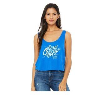 Philly Gainz - Ladies Flow Boxy Crop Top Blue
