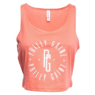 Philly Gainz Ladies' Poly-Cotton Crop Tank